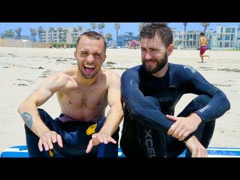 ON ESSAIE LE SURF (Vlog Los Angeles 2)