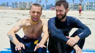 ON ESSAIE LE SURF (Vlog Los Angeles 2)
