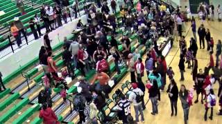 Fight at Lander fieldhouse during basketball game thumbnail