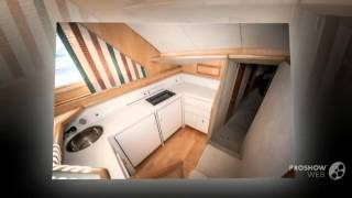 Bertram yacht 46,6 convertible power boat, flybridge yacht year 1995