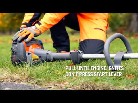 How to start a petrol grass trimmer