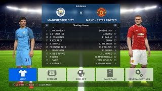 PES 2017 PC Gameplay with Official Kits & Badges - Man City v Man Utd