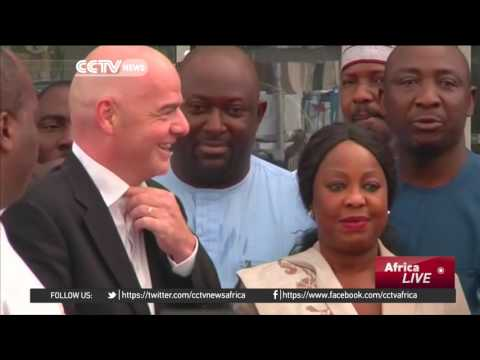 FIFA President Gianni Infantino arrives in Nigeria on two-day visit