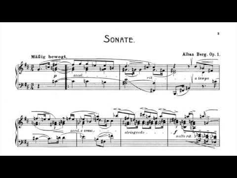 Berg: Piano Sonata, Op.1 (Shura Cherkassky) (Audio + Sheet Music)