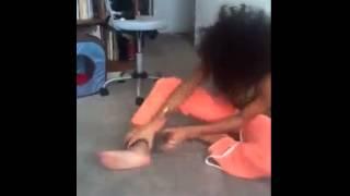 Girl on house arrest goes crazy
