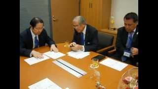 (財)日本サッカー協会小倉純二名誉会長、田嶋幸三副会長が来訪