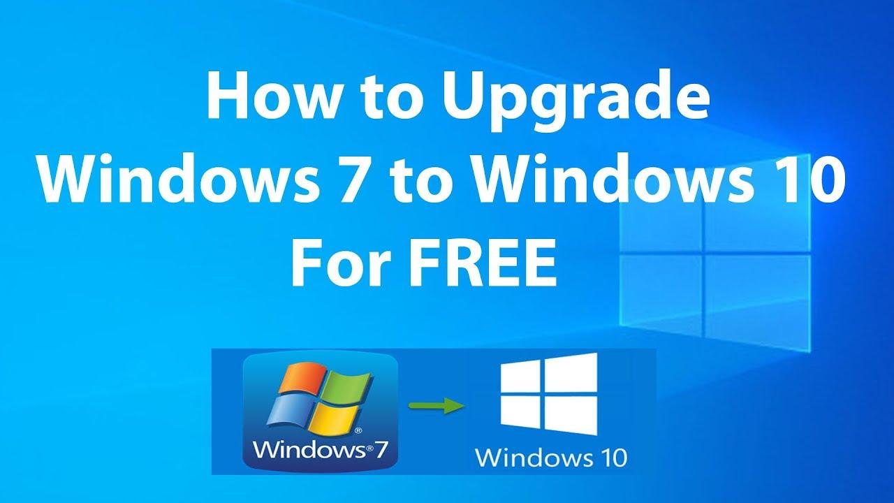 update windows 7 to windows 10 free
