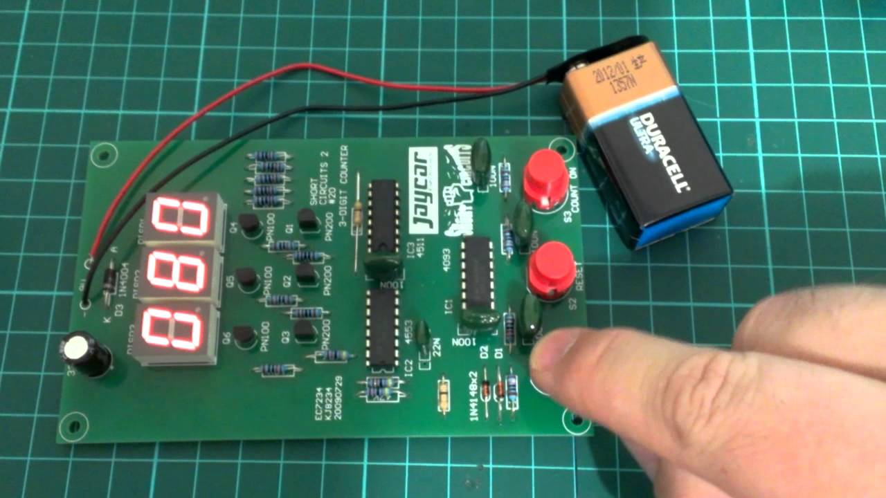 Jaycar Short Circuits 3 Digit Counter