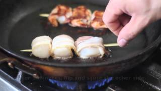 How To Cook Bacon Wrapped Prawns And Scallops!