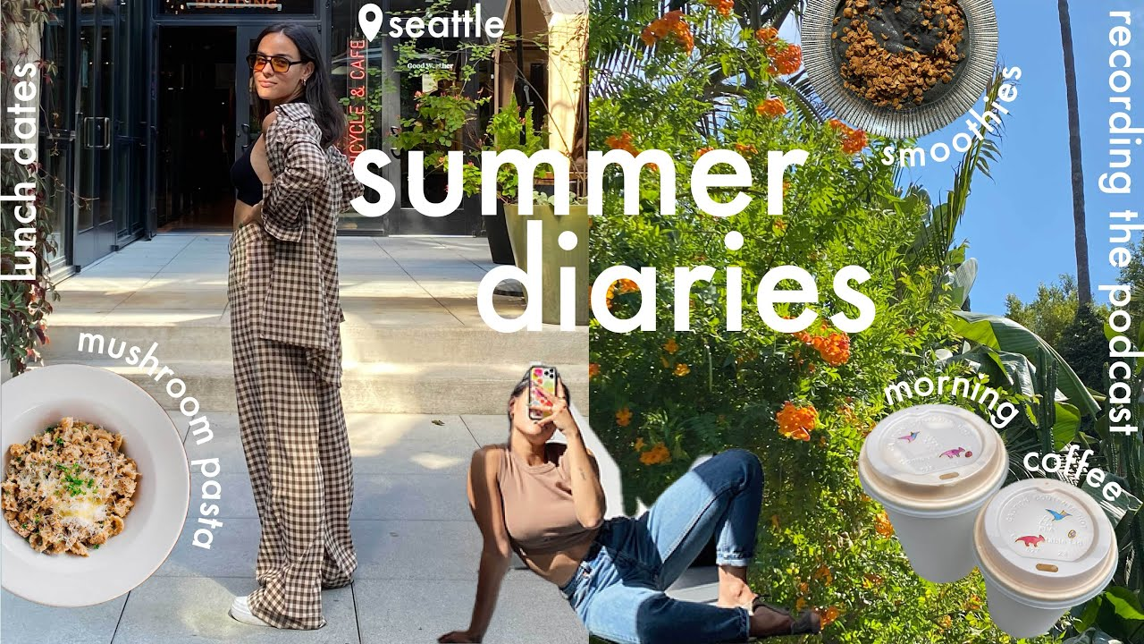 summer diaries // lunch dates + launching the podcast🎙 + current reads