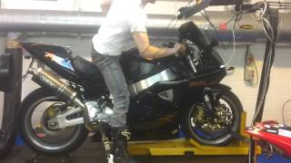 Hammer and Tongs Performance Honda Fireblade Dyno POWER RUN