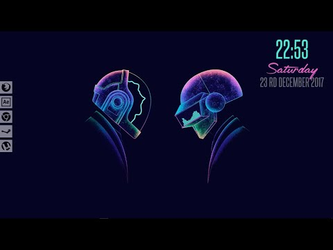 Glowing Daft Punk Rainmeter Skin 2018