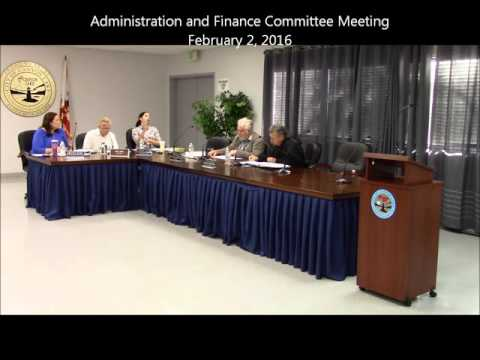 2016 0202 Full Admin and Finance Committee Video