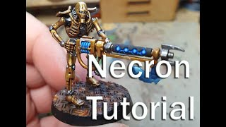 How to paint Necrons - Indomitus - Golden Armor