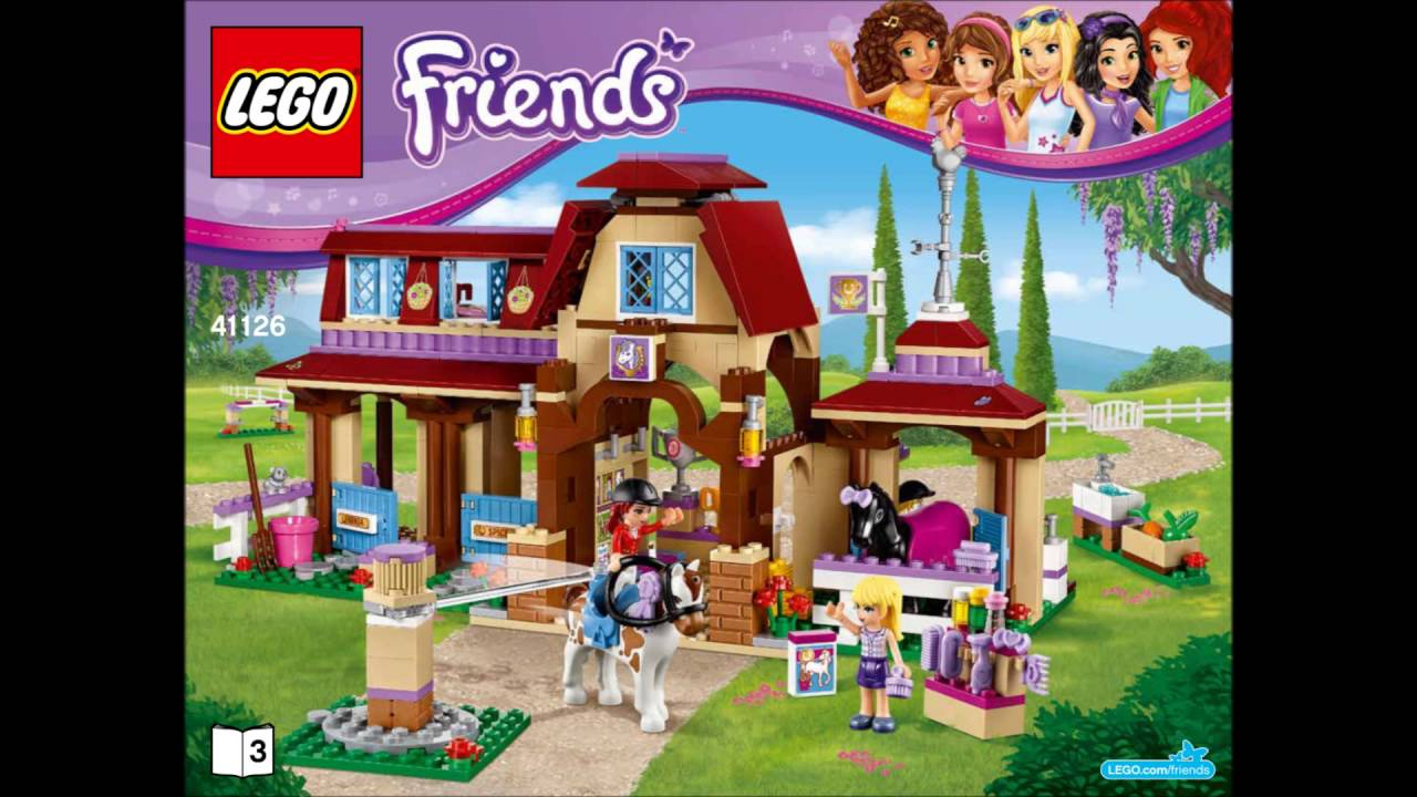 Lego Friends 41126 Heartlake Riding Club Building Instructions
