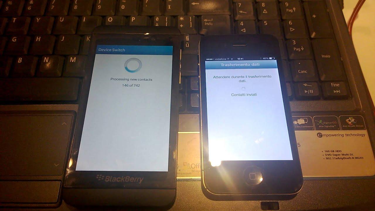 Come trasferire i contatti da BlackBerry a iPhone (Metodo 1)