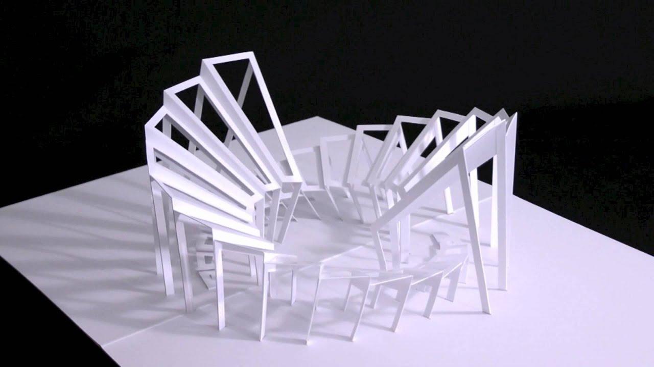 five awesome pop up paper sculptures youtube. Black Bedroom Furniture Sets. Home Design Ideas