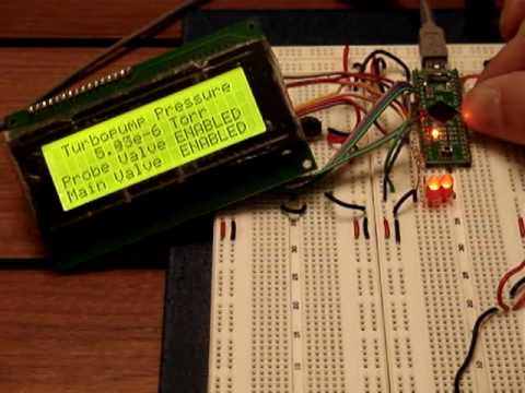 Repeat Vacuum gauge readout, Teensy++ Arduino by Jerry