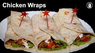 Chicken Wraps Recipe - How to make Chicken Wraps - Homemade Wraps Recipe
