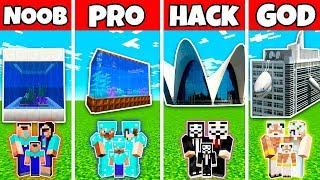 Minecraft: FAMILY OCEANARIUM BUILD CHALLENGE - NOOB vs PRO vs HACKER vs GOD in Minecraft