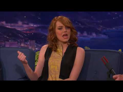 Emma Stone Interview Part 01 - Conan on TBS