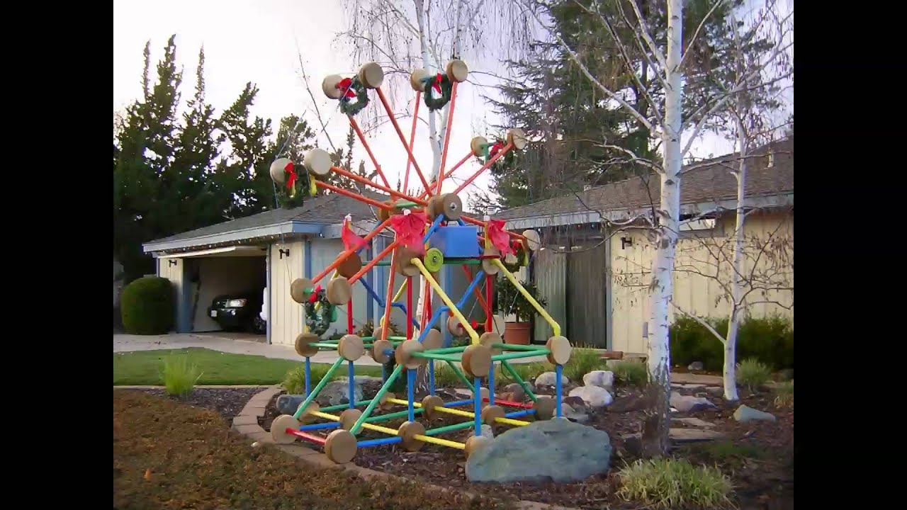 christmas ferris wheel diy pictures youtube - Cheap Christmas Yard Decorations