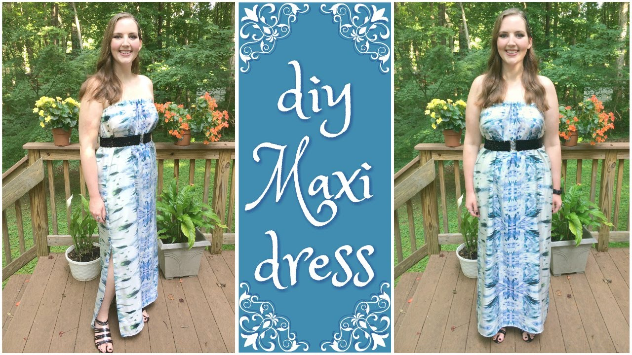 diy strapless maxi dress with slits how to sew a long