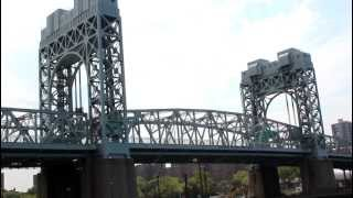 Tail end of RFK Triboro Bridge (lift span) closing