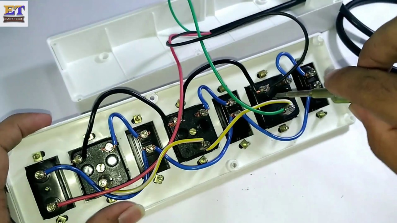 extension board wiring electric extension board at home switch rh youtube com wiring extension board wiring extension cord to light