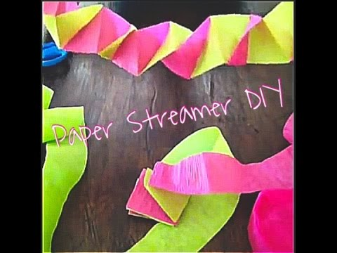 Paper Streamer Decorations Youtube