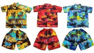Set Kemeja Pantai Anak  - Baju Setelan Pantai Anak - Setelan Anak Murah - Baju Anak Pantai - Baju Hawai Anak Laki - Baju Hawai Anak Perempuan