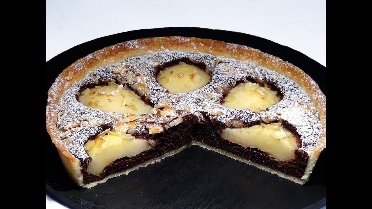Receta Tarta de peras con almendras y chocolate - Recetas de cocina, paso a paso, tutorial