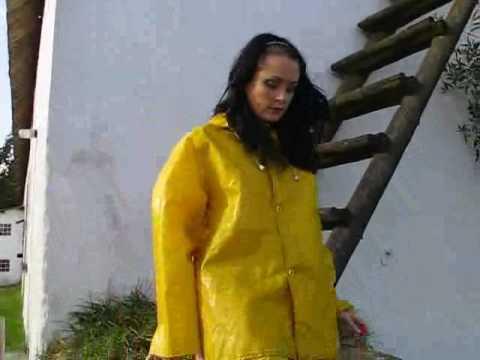 used yellow pvc rainsuit 2 youtube