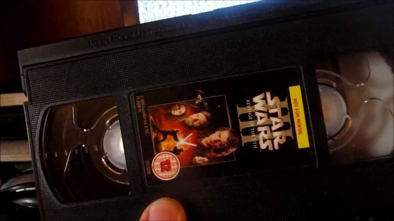 Star Wars Episode 3 Revenge Of The Sith On Vhs Youtube