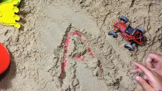 sand writing , Learning ABC Letter Alphabet phonics