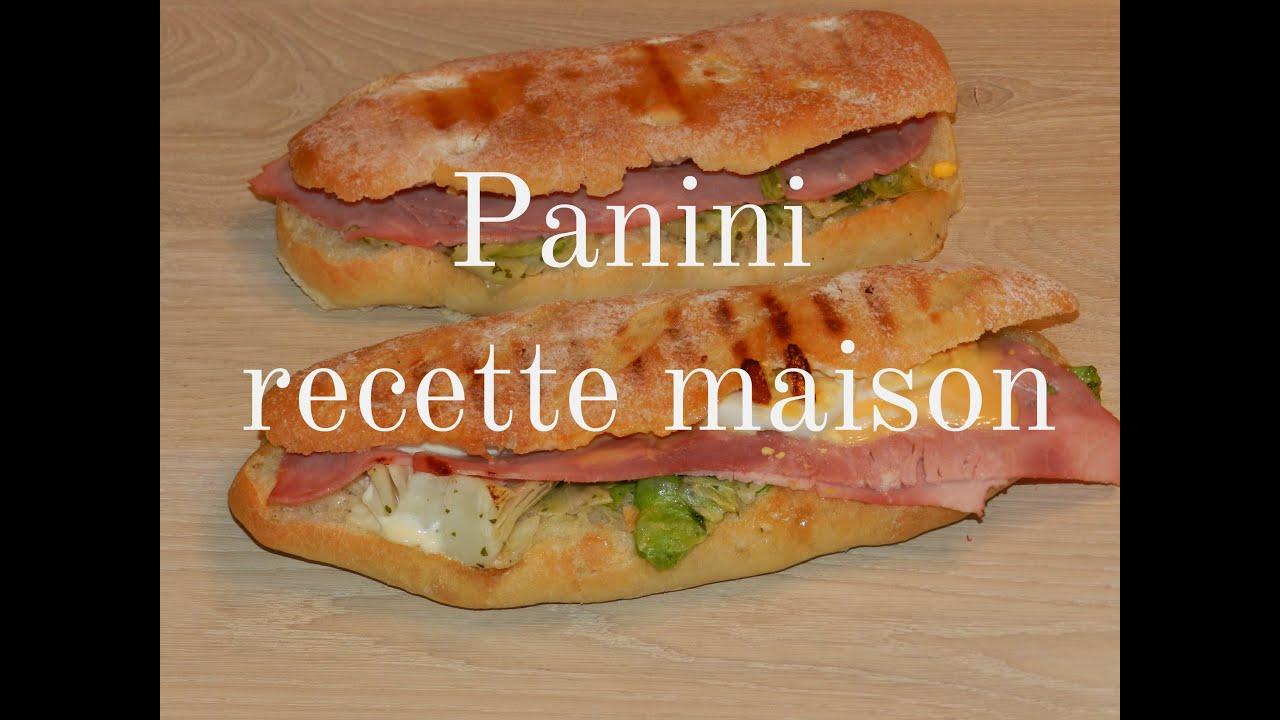 Panini Sandwich Recette Maison