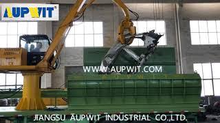 AUPU Mobile Scrap Car Baling Machine