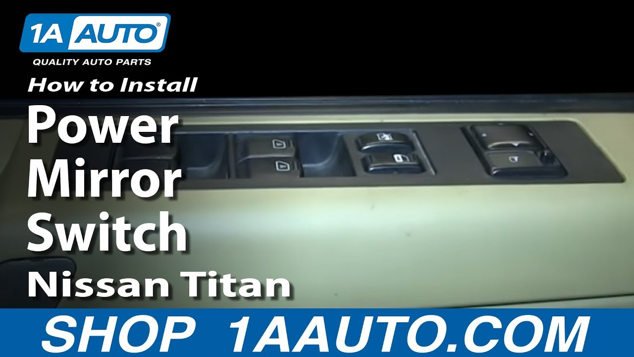How To Install Replace Power Mirror Switch Nissan Titan  YouTube