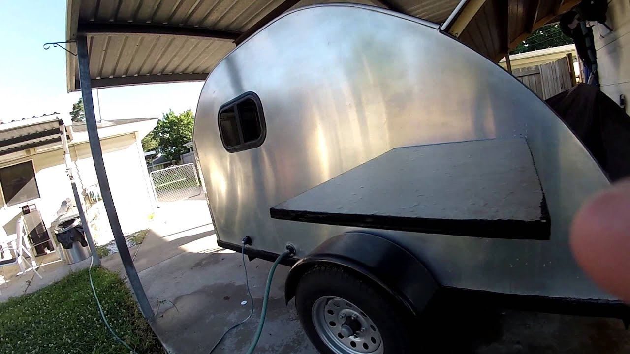 Teardrop Camper Water Tank Install Youtube