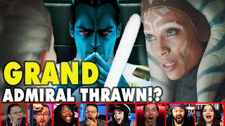 Reactors Reaction To Ashoka Mentioning Admiral Thrawn On The Mandalorian Episode 5 | Mixed Reactions