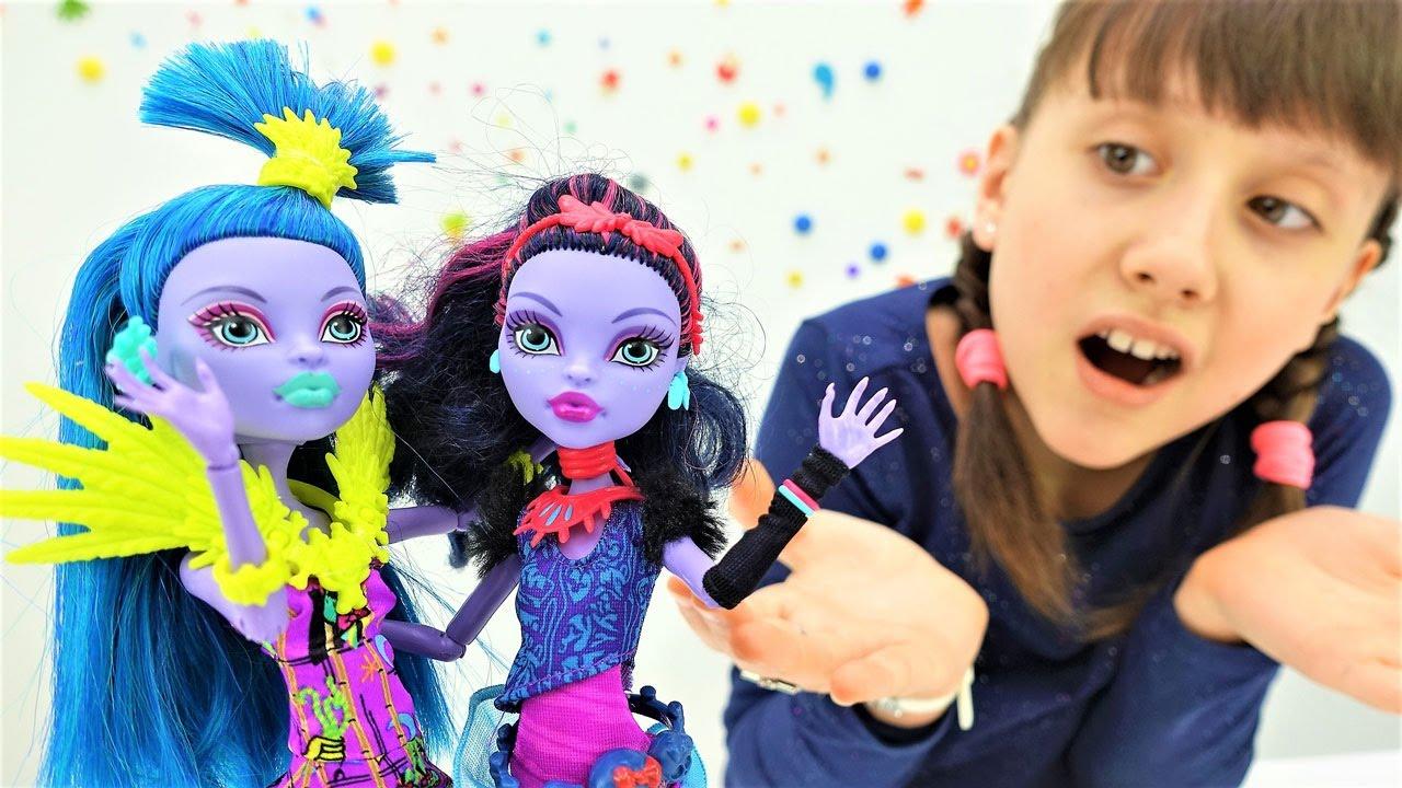 Видео куклы монстер хай для девочек