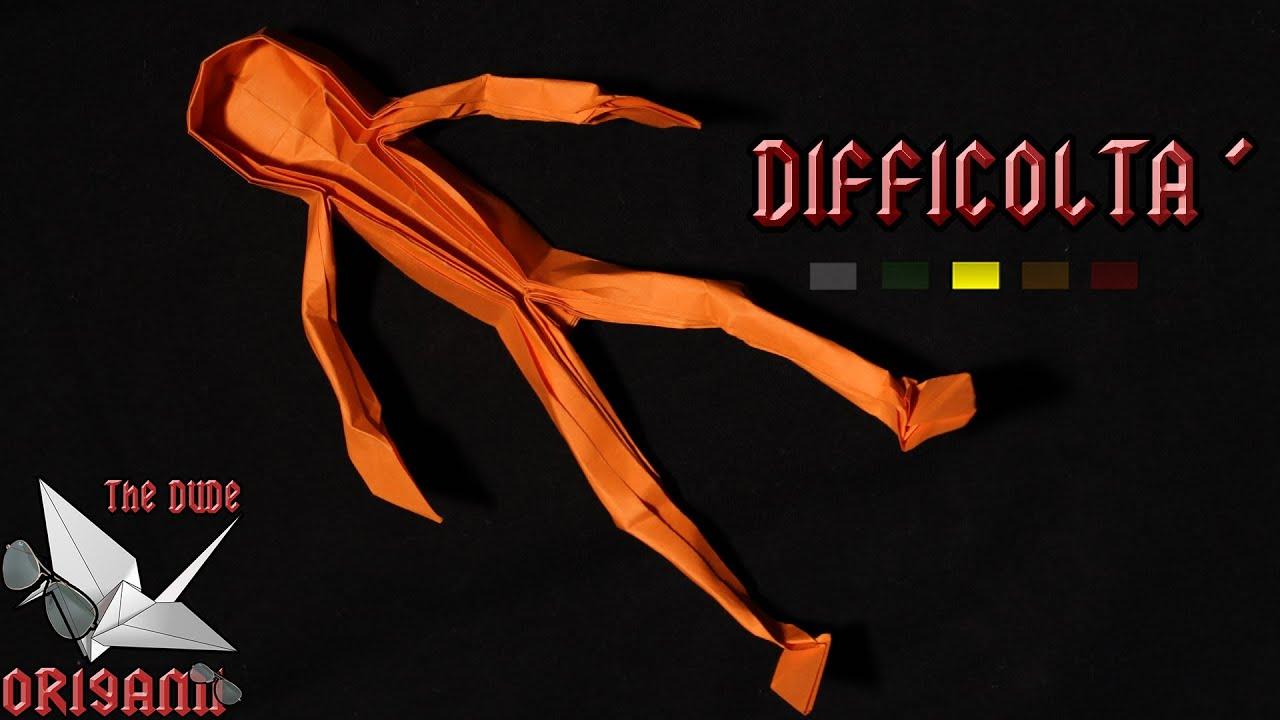 origami ita uomo di carta figura humana claudio acu241a
