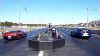 2014 corvette versus 2013 shelby gt500 10/21/13 atco rnd 2