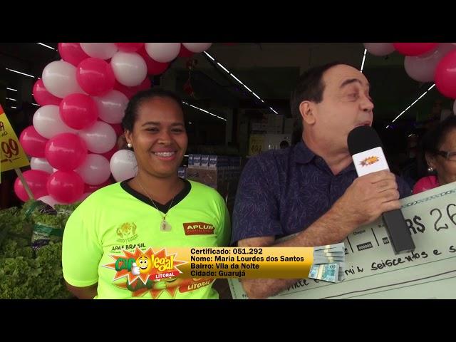 Maria e Andréa, do Guarujá, e Roberto, de Itanhaém, dividiram o valor de 1 Corolla 0KM