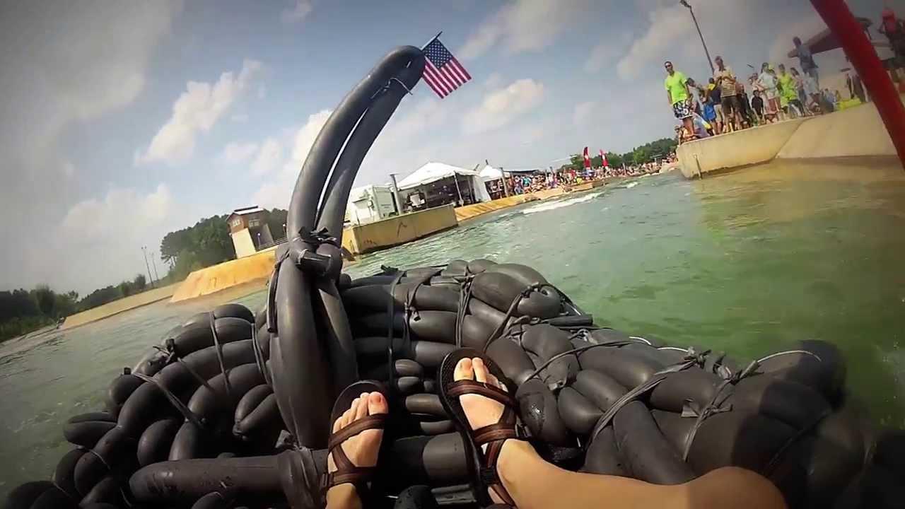 BYOB (Build Your Own Boat) Inner Tube Raft - YouTube