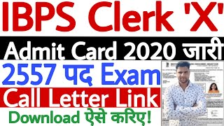 IBPS Clerk Admit Card 2020 Download Kaise Kare | How to Download IBPS Clerk Admit Card 2020 - देखें