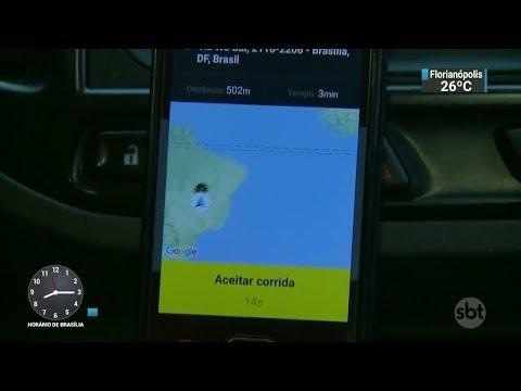 Câmara dos Deputados aprova regras para aplicativos de transporte   SBT Brasil (01/03/18)