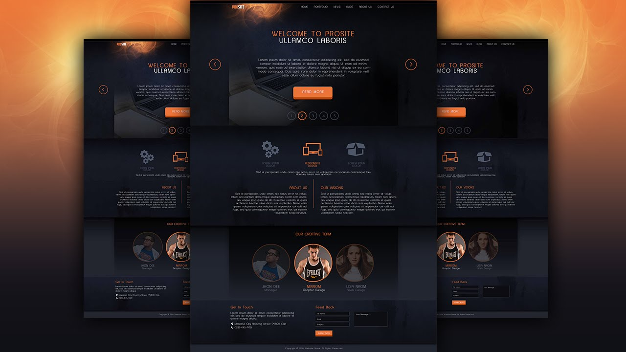 Make a dark style website design photoshop tutorial youtube make a dark style website design photoshop tutorial baditri Gallery