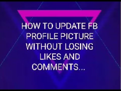 Replace facebook profile picture