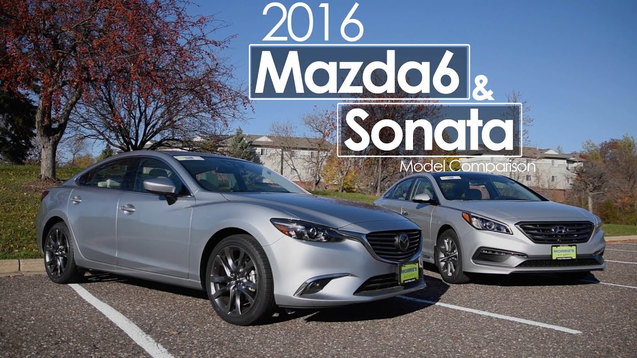 Hyundai Sonata Mazda6 2016 Model Comparison